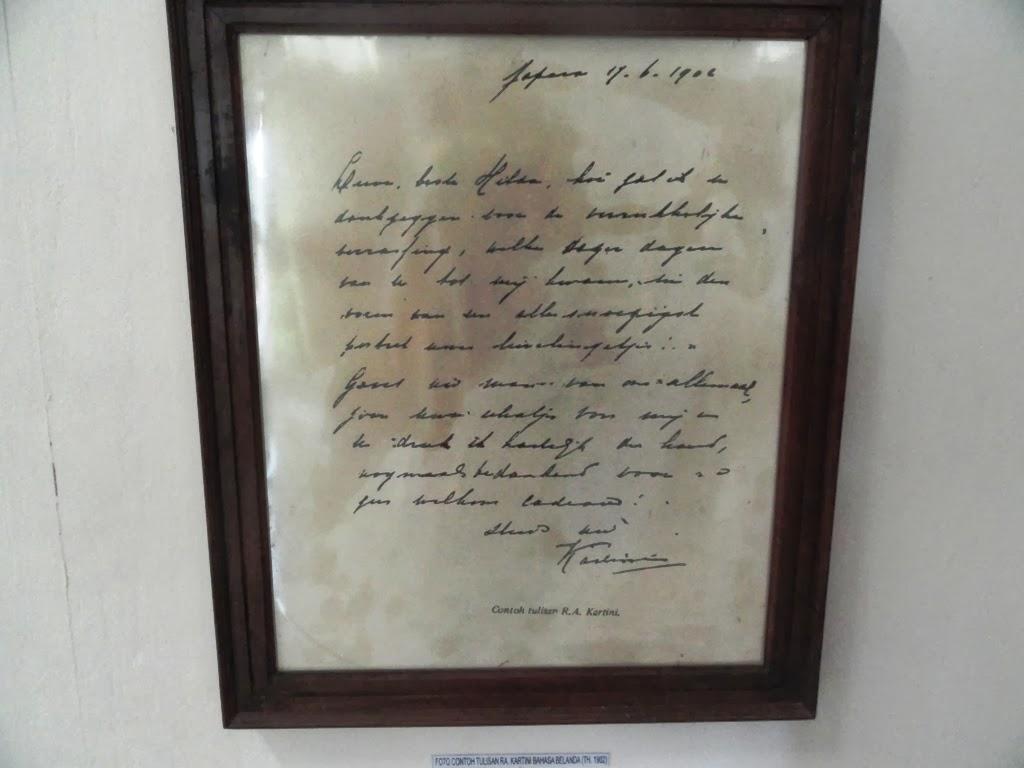 Salah satu contoh tulisan RA. Kartini