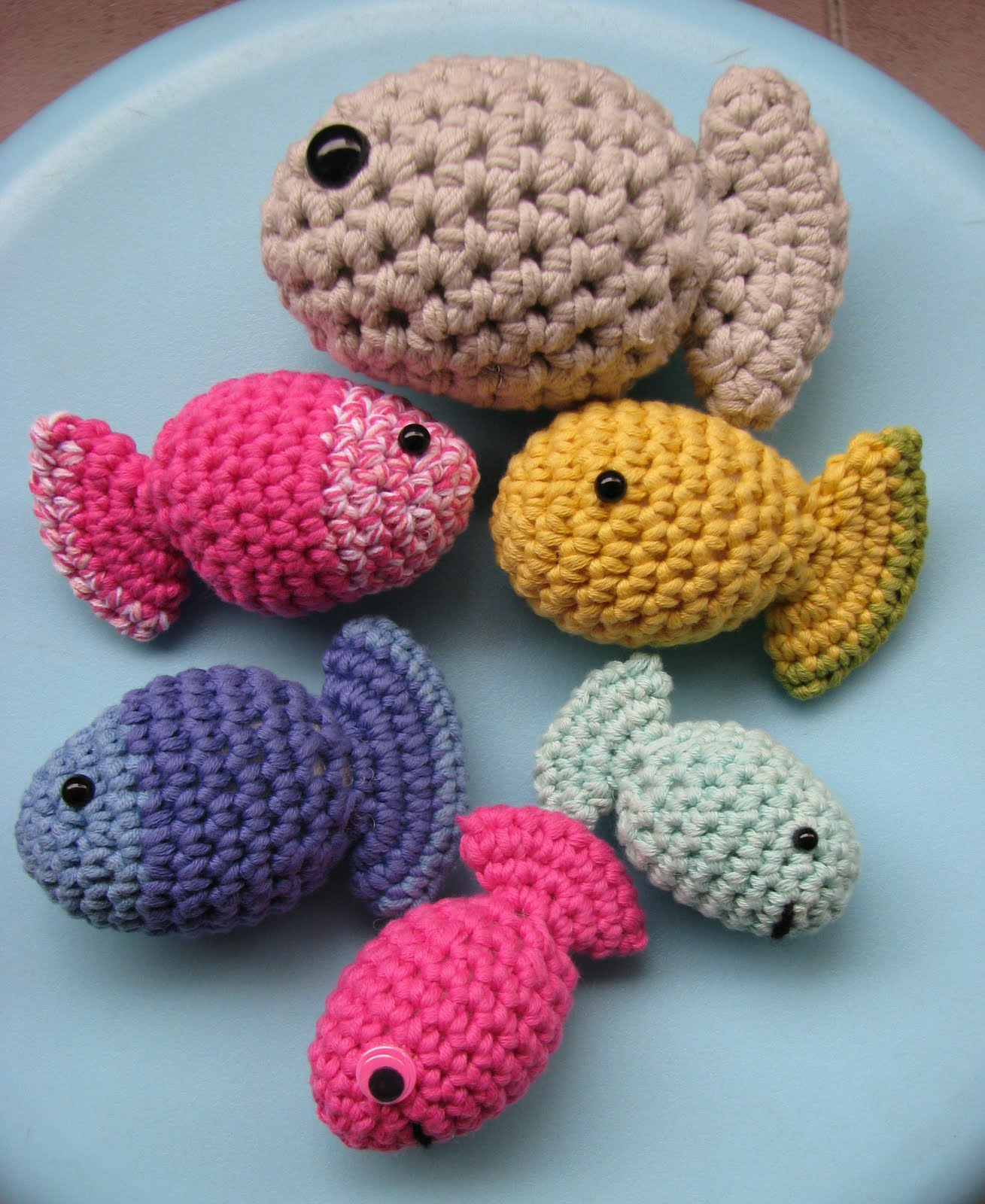 free crochet patterns fish family craft handmade blog