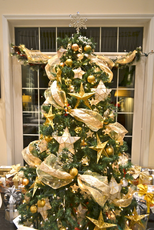Life home at 2102 a golden christmas tree 2012 Christmas tree decorating ideas philippines
