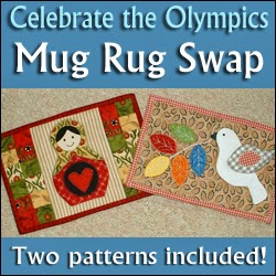 http://quiltinggallery.com/quilters-fun/olympic-mug-rug-swap/