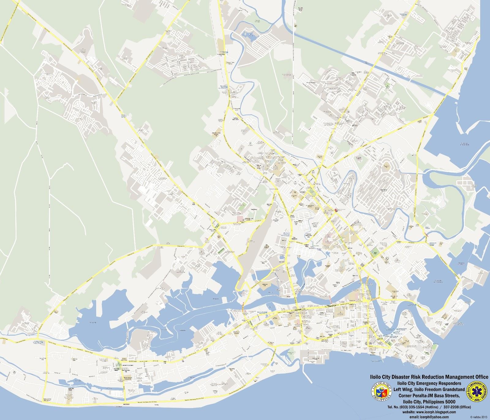 Iloilo City Emergency Responders Philippines Iloilo City Map - Iloilo city map