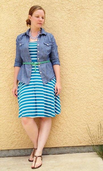 One Piece Many Ways: Striped Jersey Knit Dress