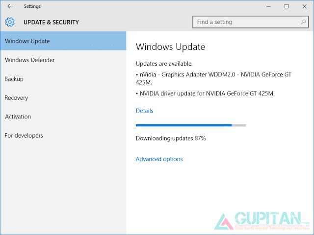 Cara Memperbaiki driver Nvidia Setelah Upgrade Windows 10