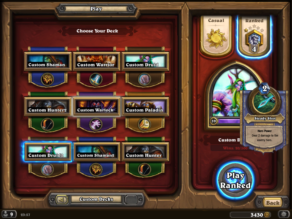 how to get level up hearthstone