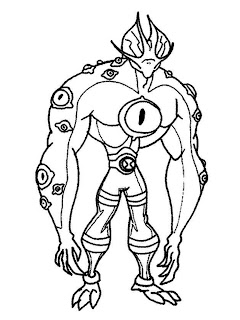 Ben 10 Swamp Fire Characters Coloring Pages