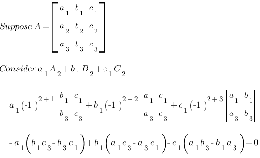 determinant expansion by minors