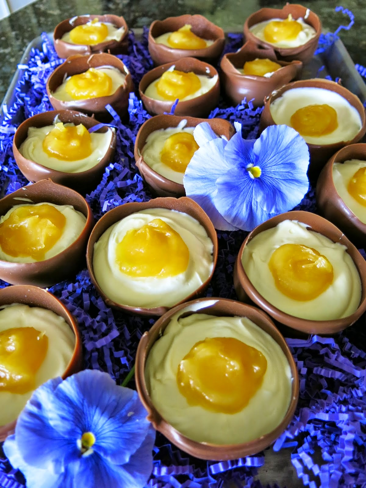 White Chocolate Mousse Egg Cups