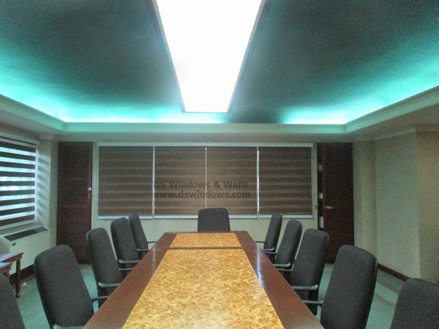 Dual Shade Blinds for a Long Table Boardroom - Makati City, Philippines
