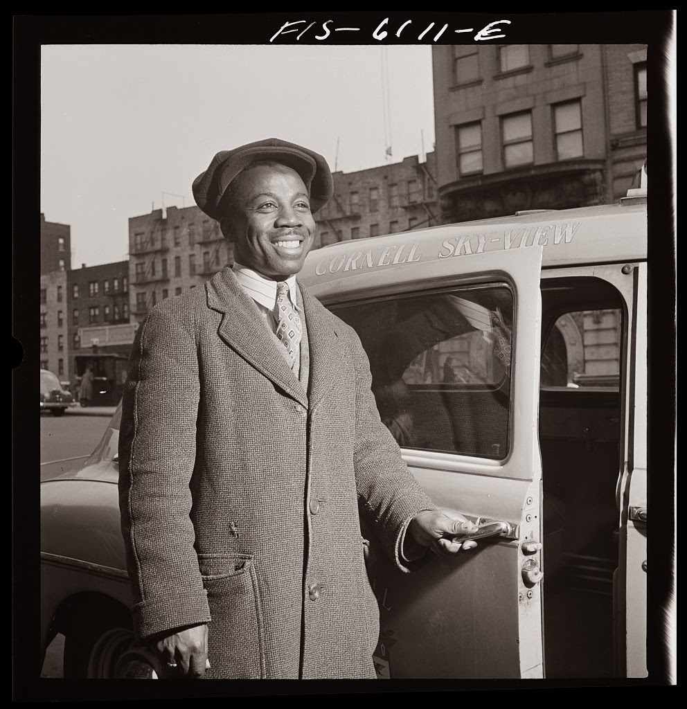 Portraits Of Negro Taxi Drivers In NYC Ca 1942 Vintage