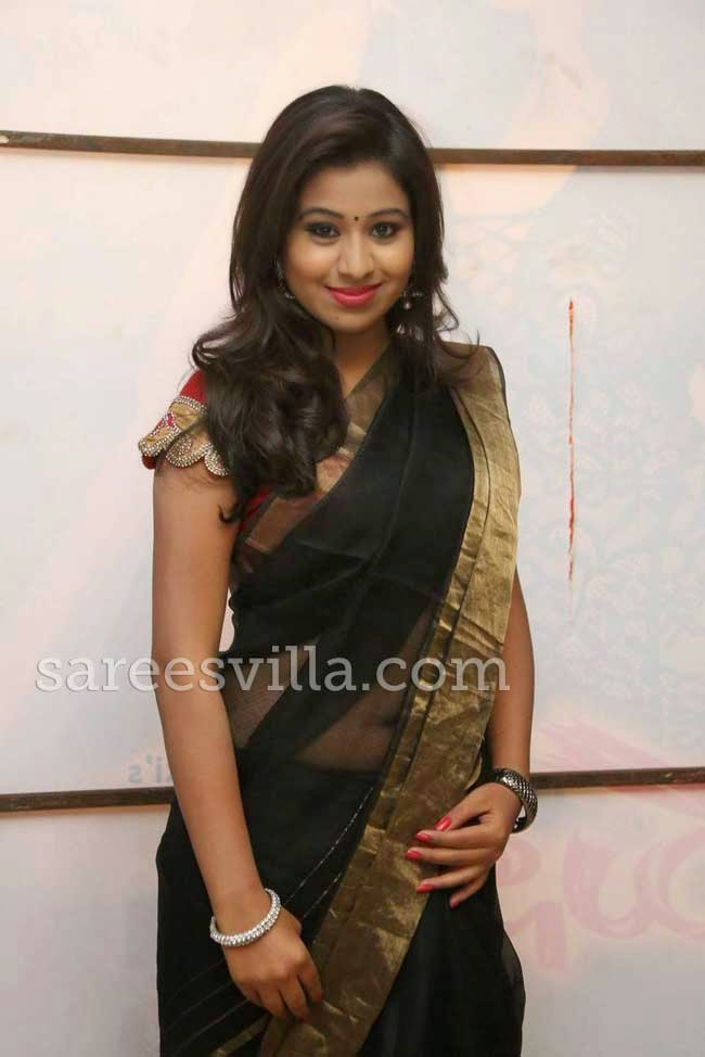 Manali Rathod In Black Saree