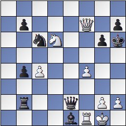 Partida de ajedrez Joaquim Travesset vs. Pedro Cherta después de 27... Rh6