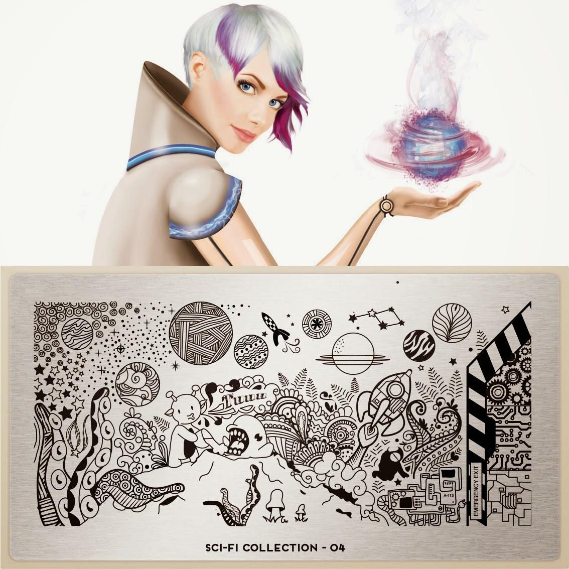 Lacquer Lockdown - MoYou London Sci-Fi Collection, MoYou London, stamping, nail art, new image plates 2014, new stamping plates 2014, new nail art plates 2014, alien nail art, aliens, tentacles, space nials, the matrix nails, diy nail art, cute nail art ideas, esay nail art