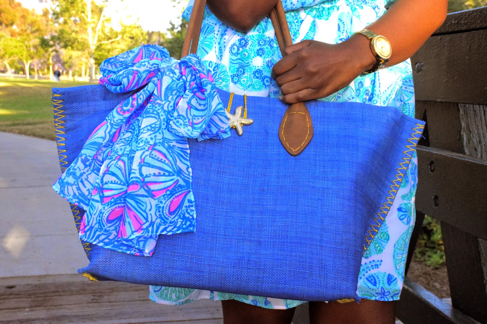 Lilly Pulitzer for Target Raffia Tote Bag - My Fans