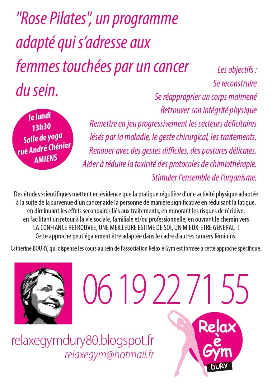 Cancer du sein et ROSE PILATES