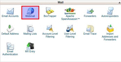 Login webmail cpanel