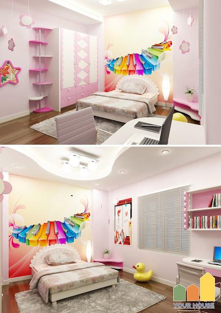 Mẫu phòng ngủ cho bé gái đẹp 06