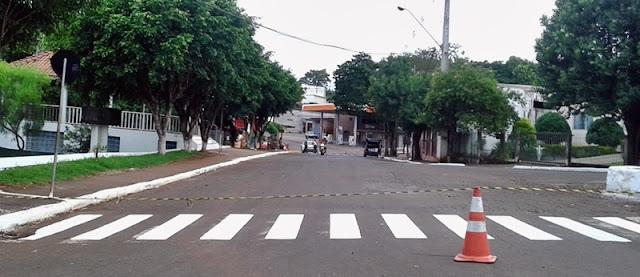Iretama: Prefeitura realiza recuperação das faixas de pedestres
