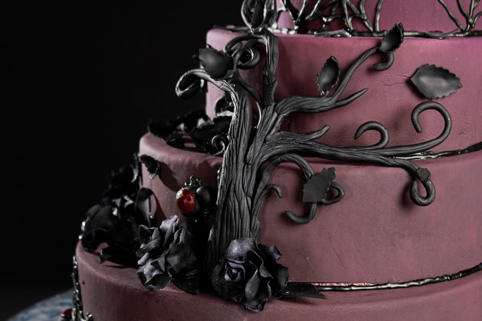 Now This Is Life Gothic Wedding Cake