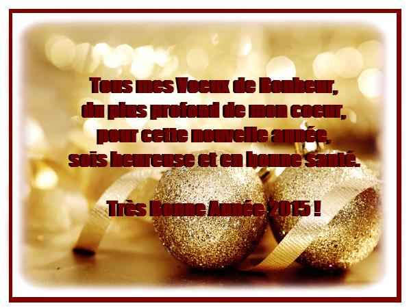 Texte d'amitié pour voeux bonne année 2015
