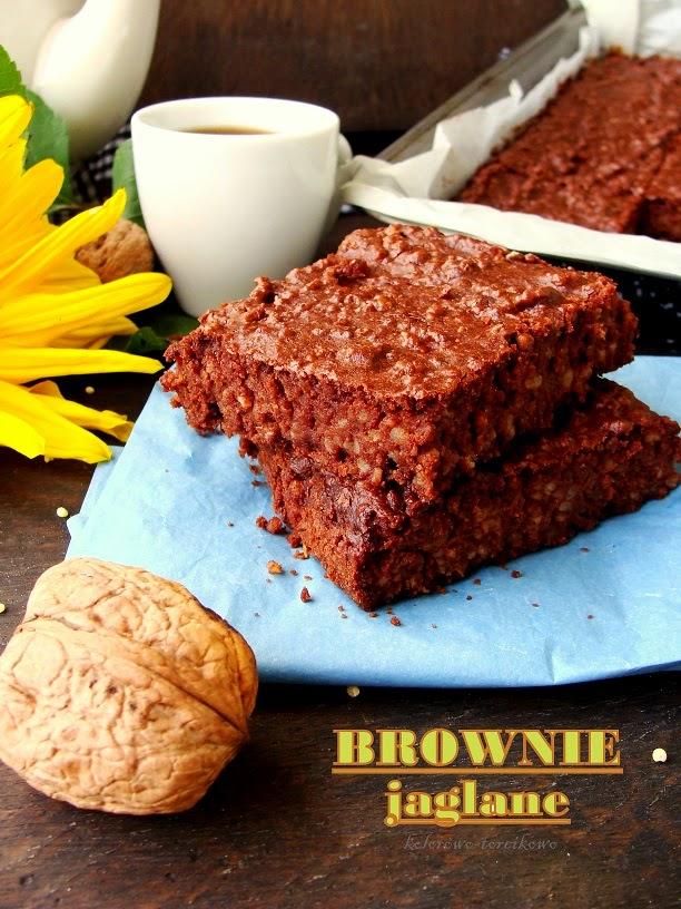 Czekoladowe ciasto z kaszy jaglanej ( jaglane brownie )