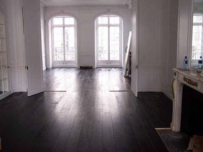 Hardwood Floors painted black
