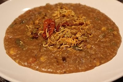 Slow Cooker Dalia Bisibele Bhath (Cracked Wheat, Toor Dal and Vegetable Stew)