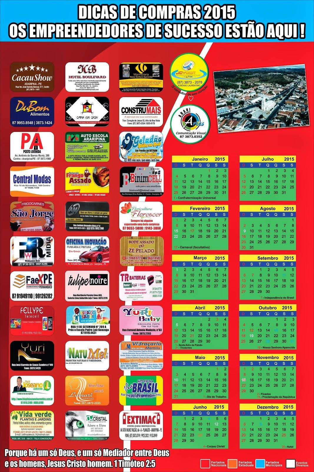 DICAS DE COMPRAS EM ARARIPINA 2015