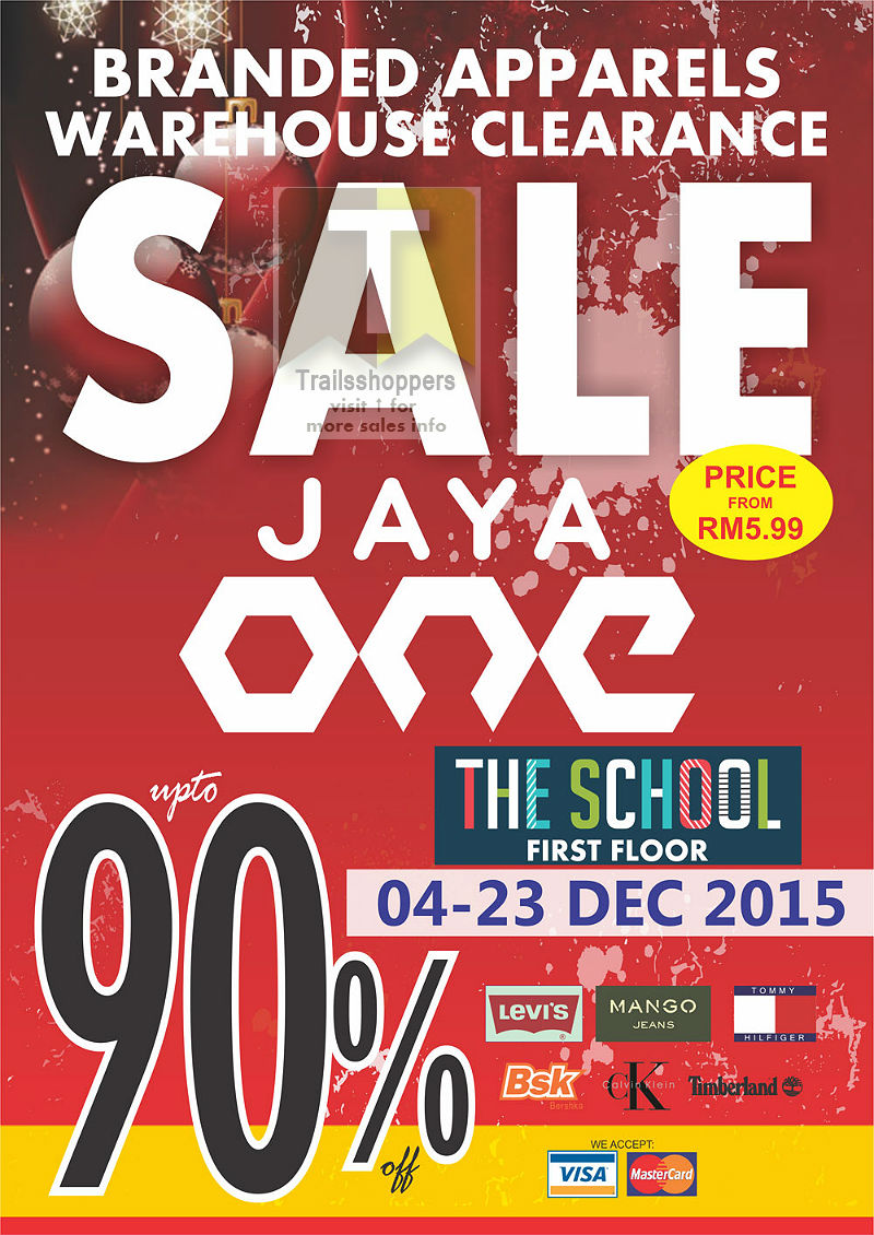 Branded Apparels Warehouse Sale 2015 Jaya One
