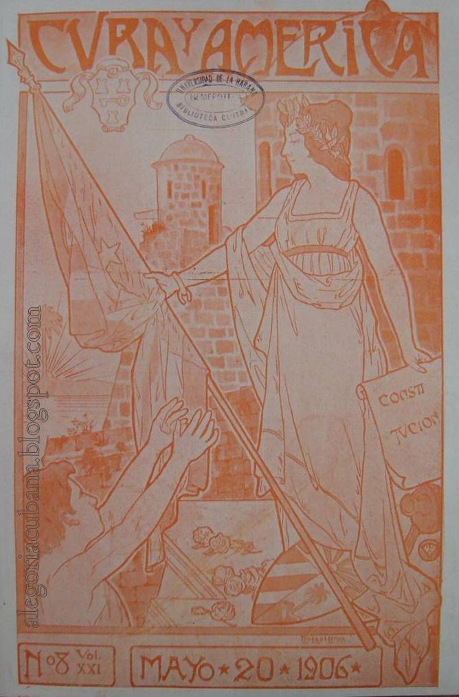 Cuba y América, 1906, 20 de mayo, alegoría de Cuba