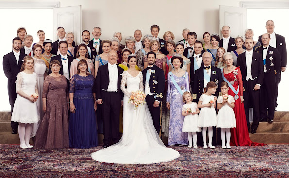 KIng Carl Gustaf, Queen SIlvia, Crown Princess Victoria, Prince Daniel, Princess Madeleine, Chris O'Neil and Princess Leonore, Crown Prince Frederik and Crown Princess Mary of Denmark, Queen Mathilde of Belgium, Queen Margrethe of Denmark, Queen Maxima of the Netherlands, Sophia, Countess of Wessex, Queen Margrethe of Denmark, Queen Sonja of Norway Crown Prince Haakon and Crown Princess Mette -Marit, Prince Joachim and Princess Marie, Princess Hisako Takamado, Princess Estelle