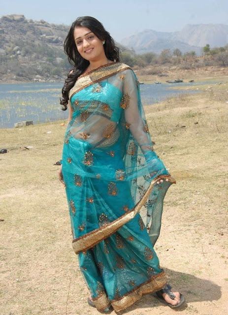 nikitha in saree actress pics
