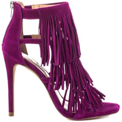 sandalia franjas roxa