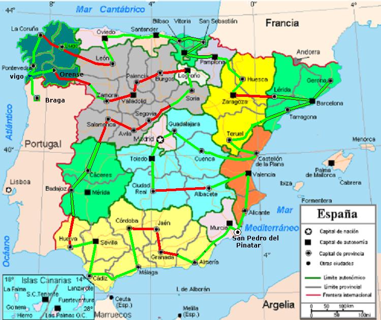 Vuelta a España en Mobylette, ¿por que no? Mapa+a+23+09+13