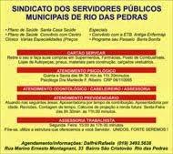 SINDICATO DOS SERVIDORES PÚBLICOS MUNICIPAIS DE RIO DAS PEDRAS