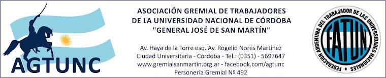Gremial San Martín - AGTUNC - Nodocentes UNC y DASPU - No docentes UNC y DASPU - FATUN