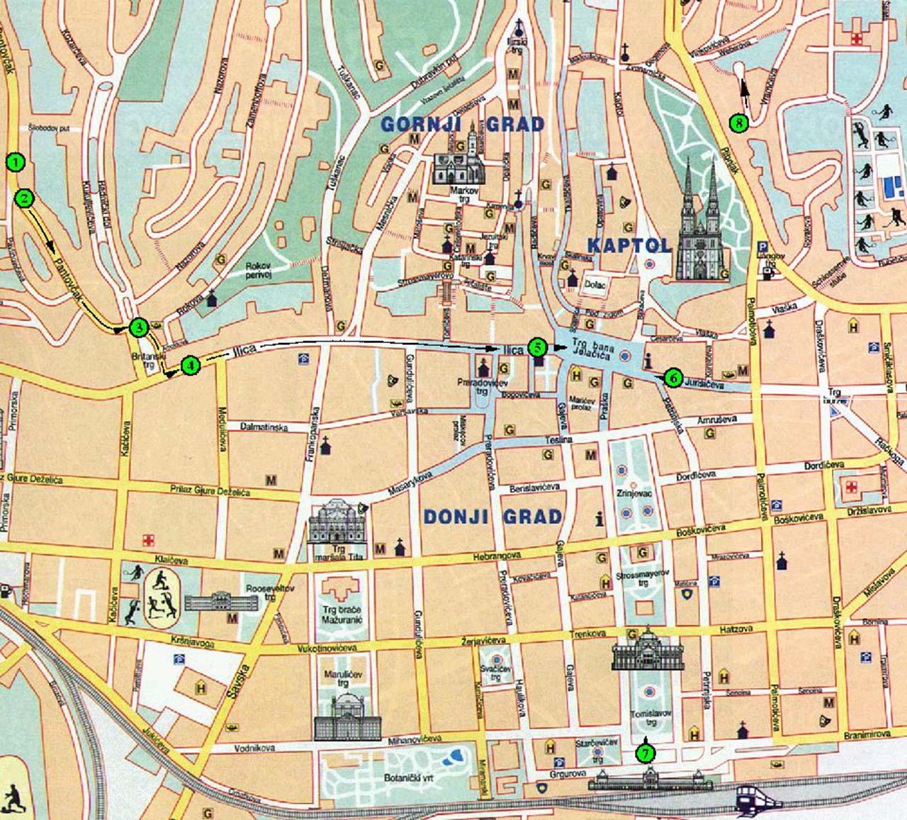 Plan De Dubrovnik Centre Ville
