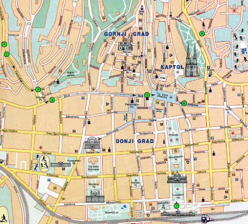 Mapa de Zagreb – Croácia