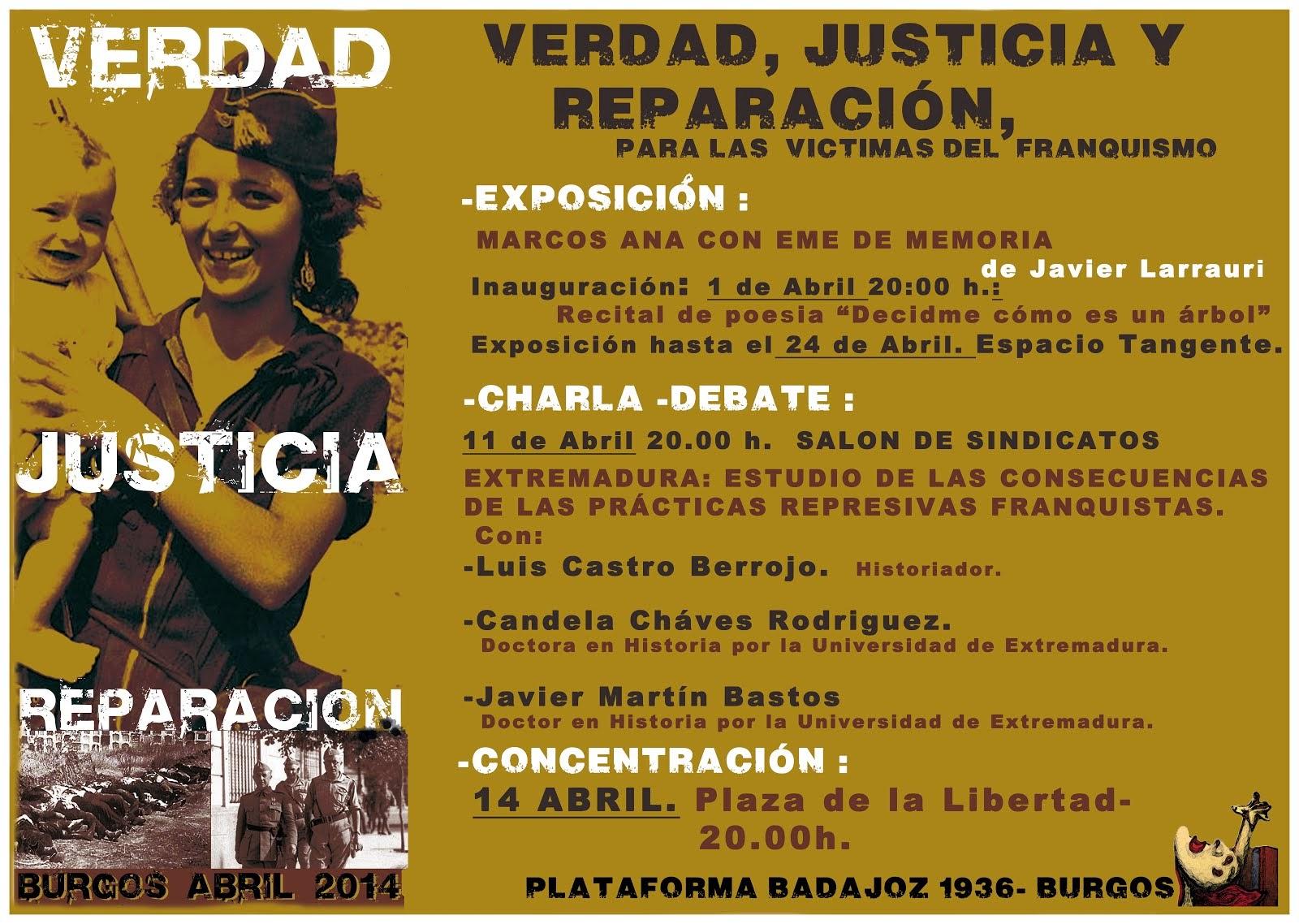 Jornadas verdad, justicia y reparación para las víctimas del franquismo