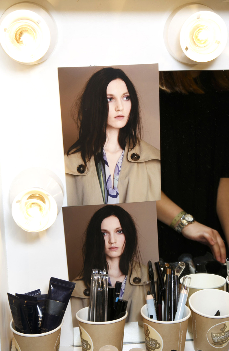 Burberry Prorsum Backstage Fall collection / what to wear to fashion week / London fashion week streestyle