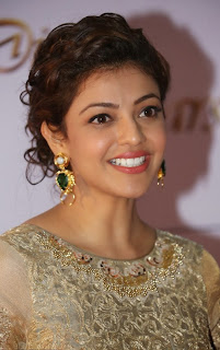 Actress Kajal Aggarwal Pictures in Designer Evening Dress at Memu Saitam Dinner with Stars Red Carpet 20)
