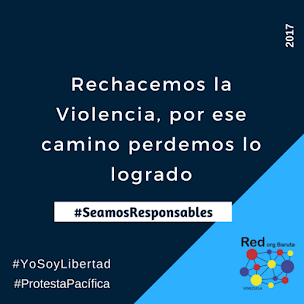 Unete a la campaña contra la violencia, @RedOrgBaruta #YoSoyLibertad #ProtestaPacifica