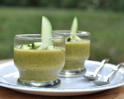 Zucchini Soup Shooters ♥ | A Veggie Venture: Chilled Zucchini Soup ...