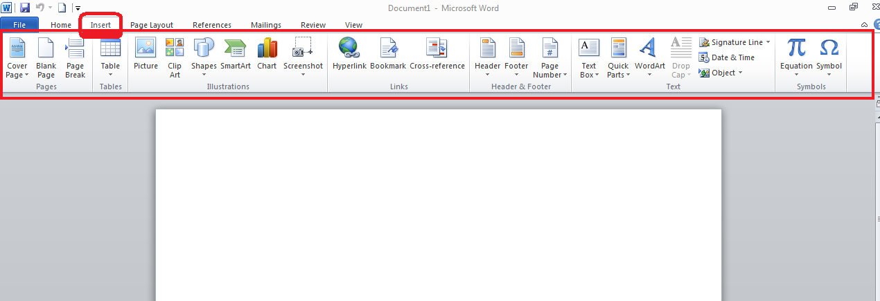 how to insert page break in word 2010