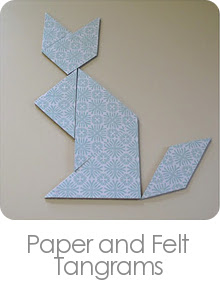Paper and Felt Tangrams