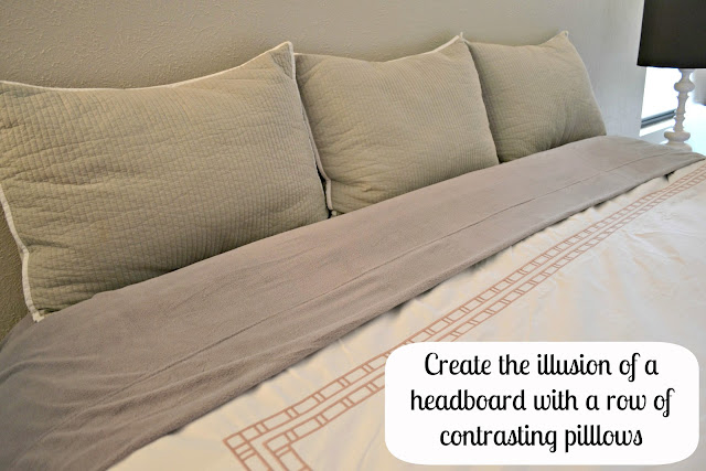 Creating a headboard with pillows #CBias