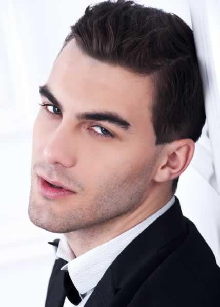 Peinados formales para cabello corto hombres