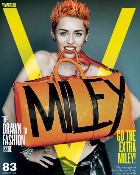 Miley Cyrus on cover of V Mag 2013