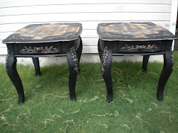 carved night stands...SOLD