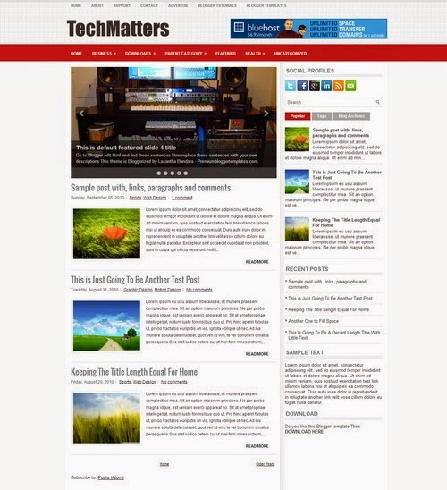 Tech Matters Free Premium Blogger Template