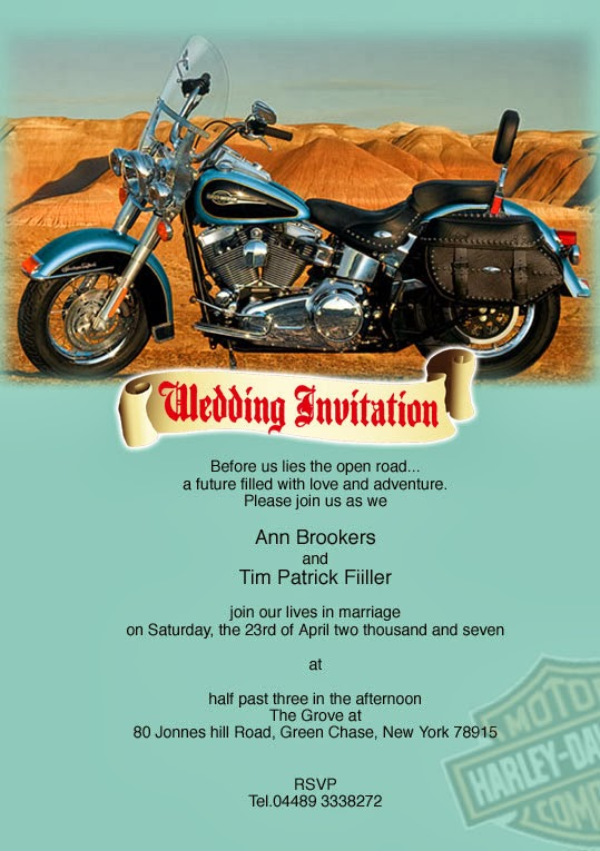 Harley Davidson Wedding Decorations